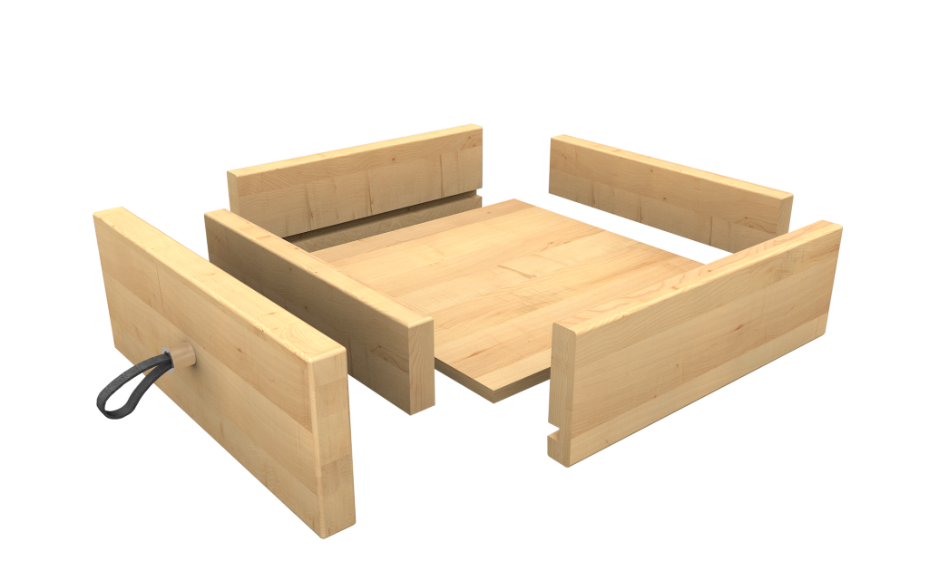 Massivholzmöbel Schublade