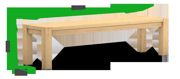 Maße einer Massivholzbank