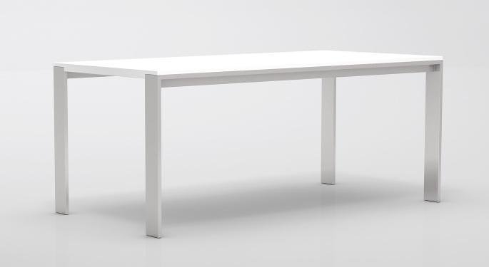tisch mit metallgestell tisch durios in wei mit. Black Bedroom Furniture Sets. Home Design Ideas