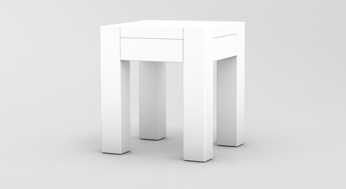Massivholz Hocker Kira