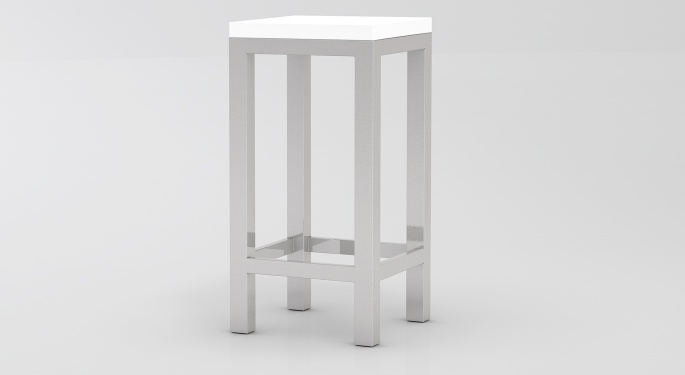 Massivholz Hocker Onya